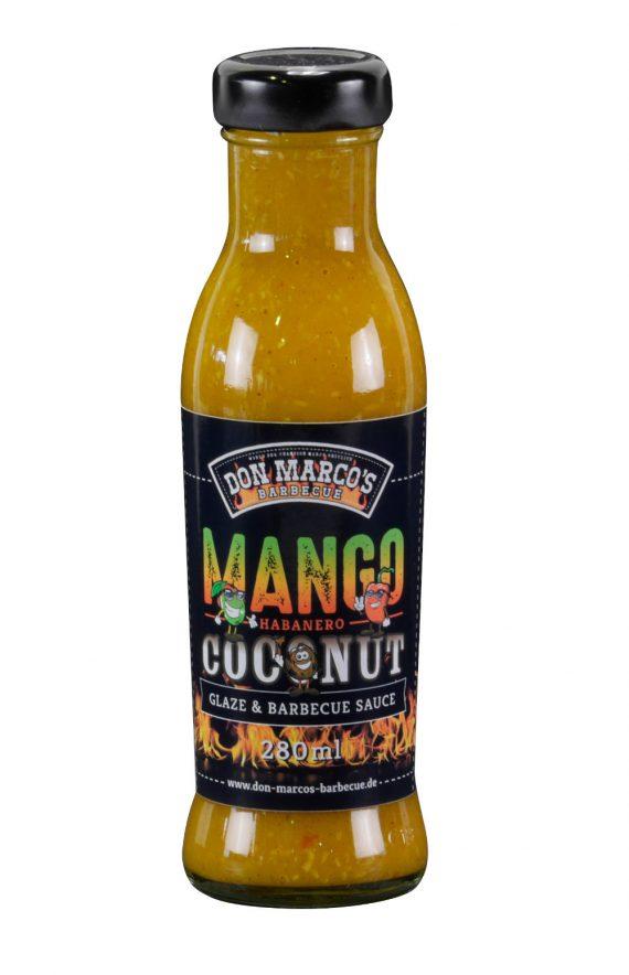 Mango Habanero Coconut Glaze & Barbecue Sauce , in Glas