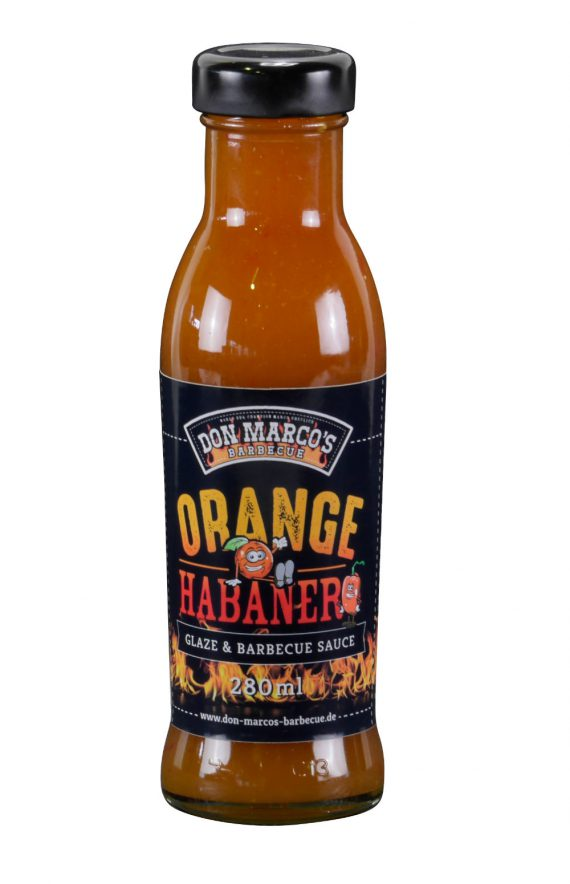 Orange Habanero Glaze & Barbecue Sauce, in Glasflasche