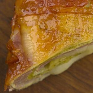 Tortilla Rezept : Crystall Mett Rolle nahe Ansicht von Oben