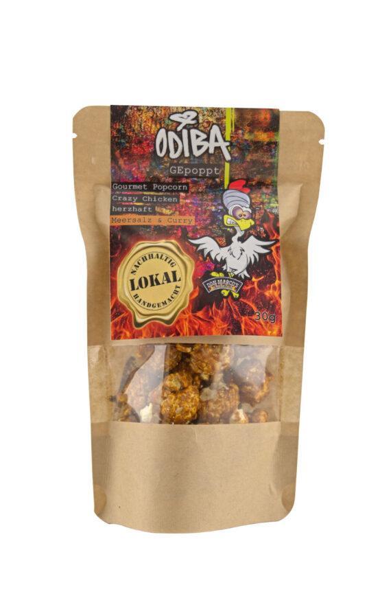 Popcorn machen ist eine zeitaufwendige Arbeit. Probier lieber unser Odiba Gourmet Popcorn Crazy Chicken!