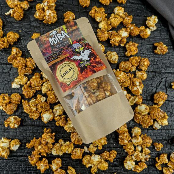 Salziges Popcorn mit Currynoten