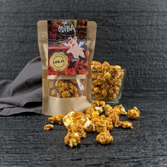 So sieht es aus, wenn wir unser Popcorn selber machen : Odiba Gourmet Popcorn PigWing