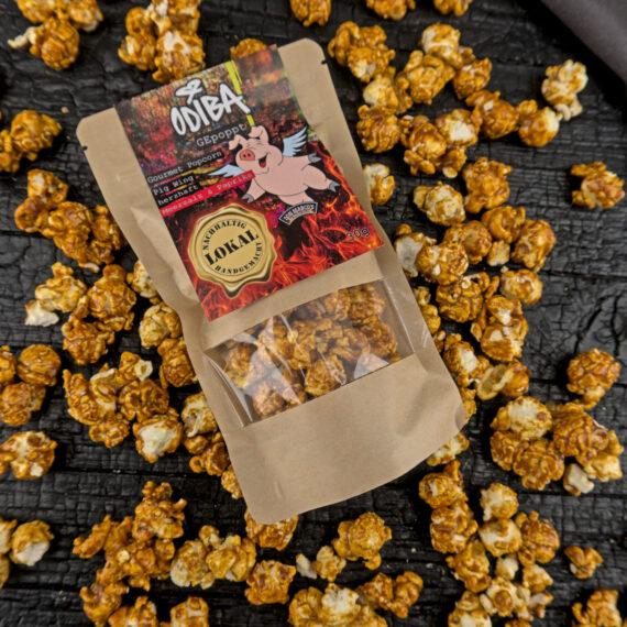 Salziges Popcorn mit einem Hauch von Bacon
